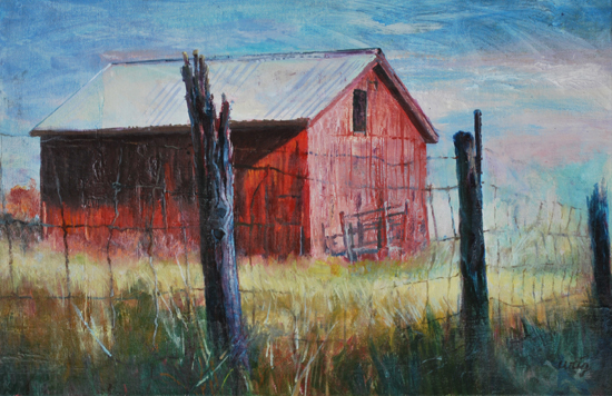 Open Graze, 11 x 17 inches, oil on canvas