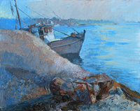oil painting bluffton oyster company