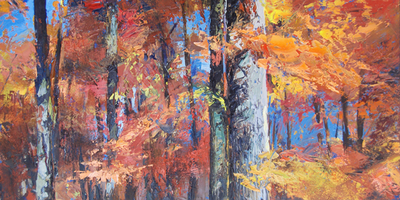 take a hike at clifty falls indiana painting