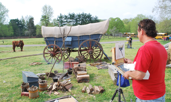 Urig plein air painting pioneer camp